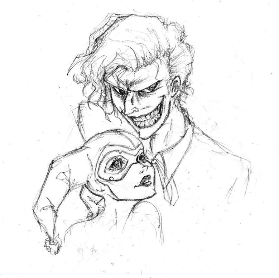 895x892 Joker And Harley By Robinelyce
