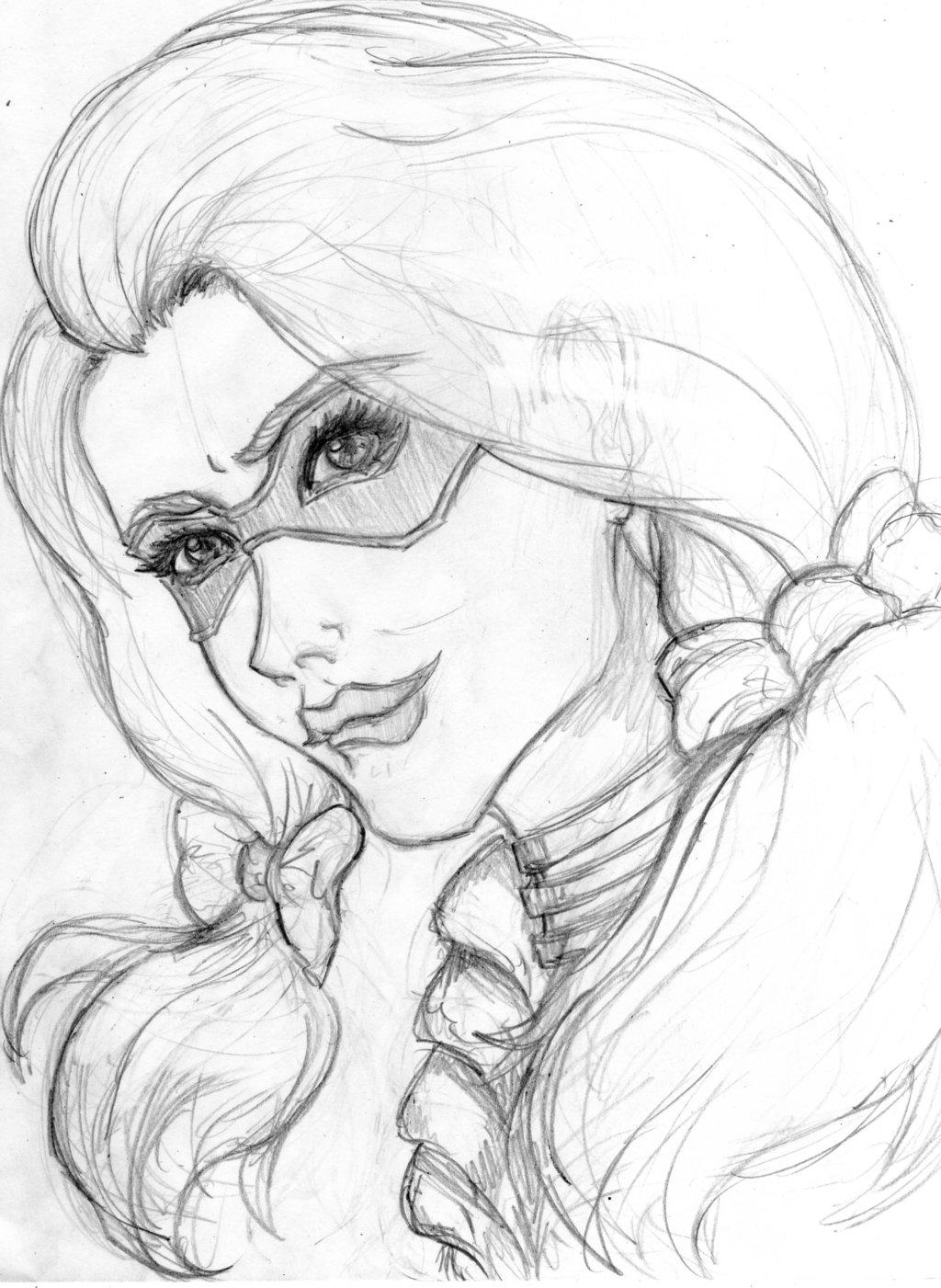 1024x1401 Sketch Harley Quinn By Serenitymooncosplay