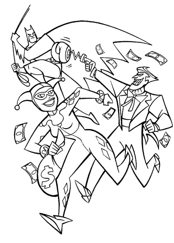 600x835 Joker And Harley Quinn Coloring Pages Coloring