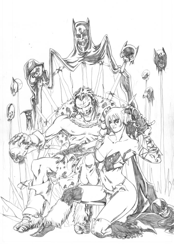 707x988 Barbarians Joker And Harley Quinn By Diegomagno
