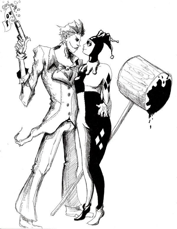 600x776 Joker And Harley Quinn By D Crimson