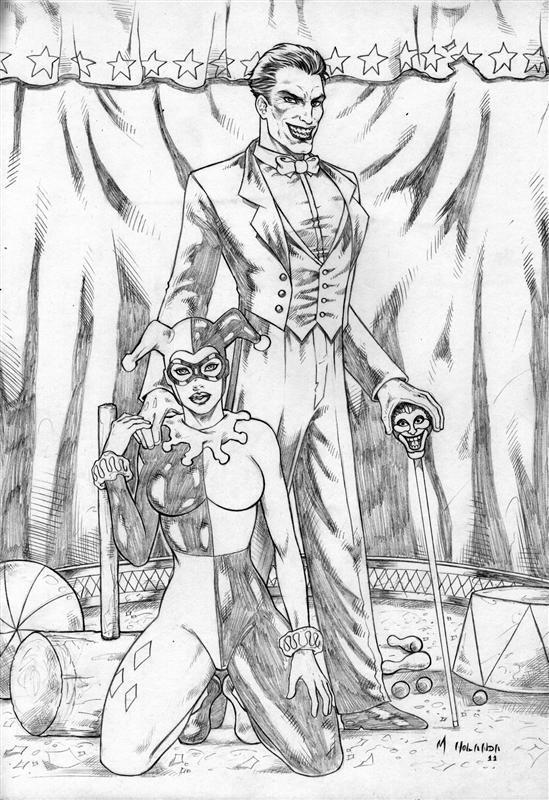 549x800 Joker N Harley Quinn By Marcelloholanda