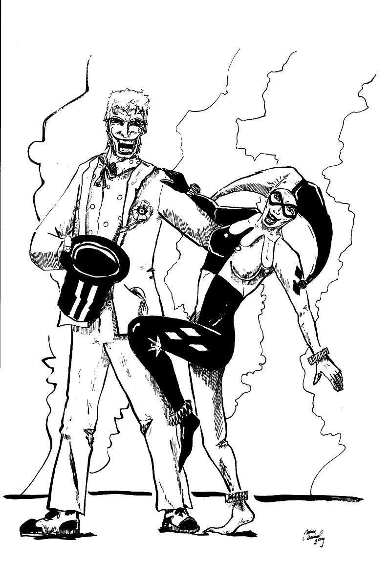 800x1153 The Joker And Harley Quinn By Amaidon