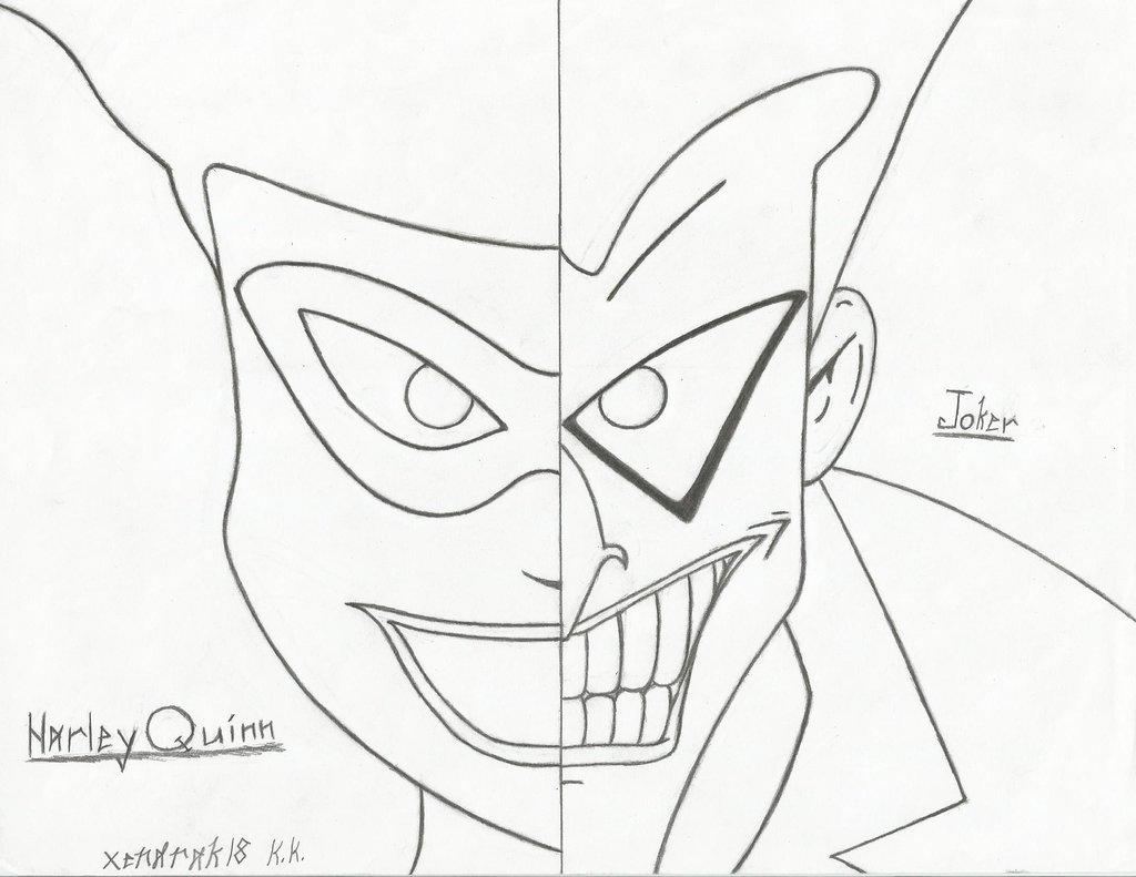 1024x791 Harley Quinn And Joker Split Screen By Xendrak18