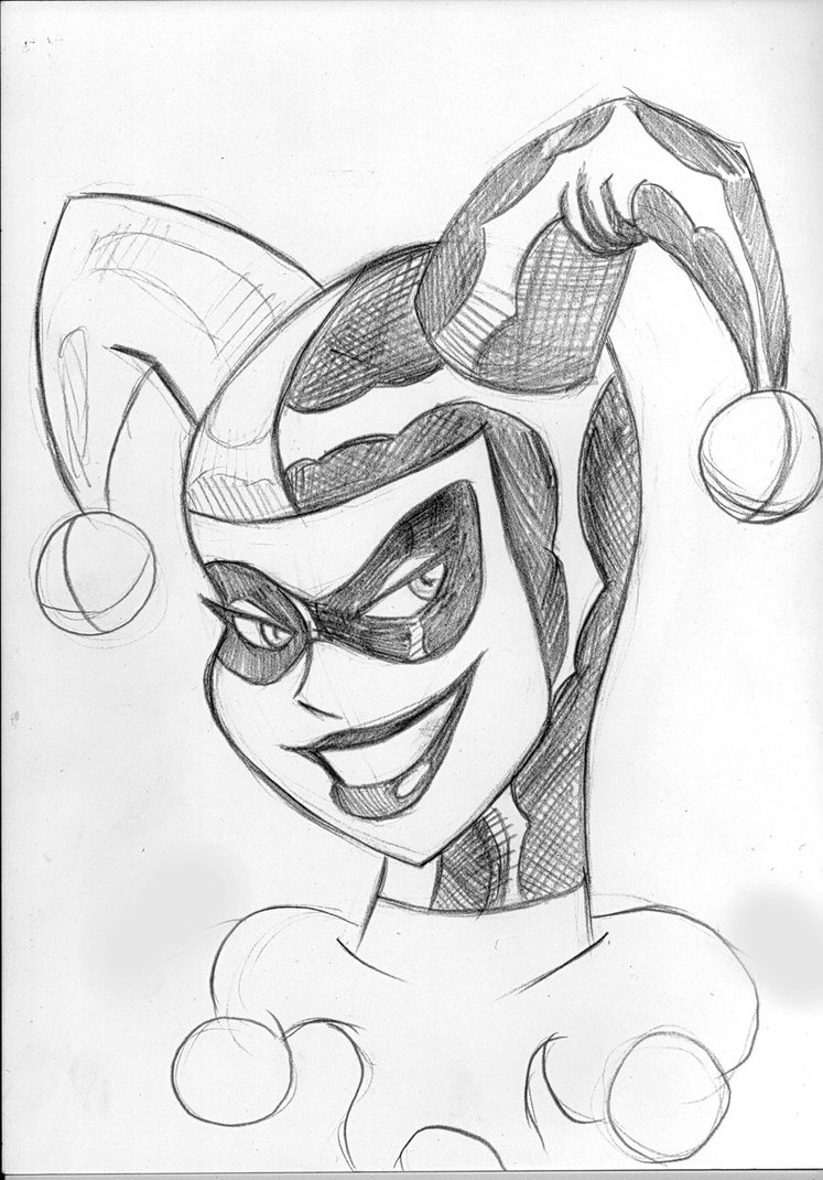 747x1070 Harley Quinn Bruce Timm Style By Zarnoth