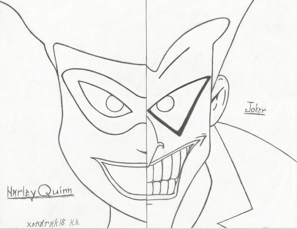 1017x786 Harley Quinn And Joker Split Screen By Xendrak18