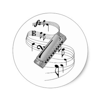 324x324 Harmonica Stickers Zazzle