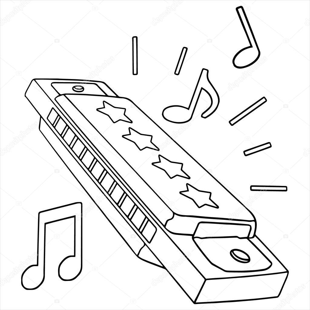 1024x1024 Harmonica Stock Vector Foxynguyen