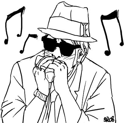 410x406 Om Nom Nom Harmonica By Shikalee
