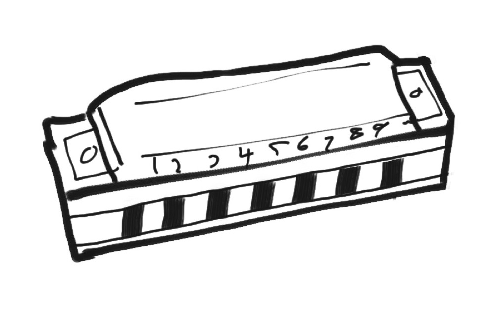 Harmonica Drawing At Getdrawings Com