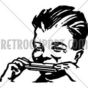 300x300 Boy Playing Harmonica,