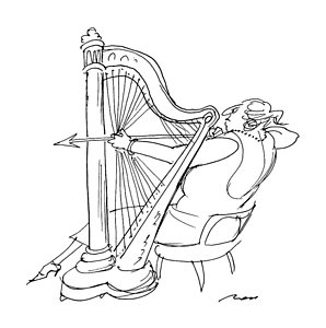 298x300 Harp Drawings Fine Art America