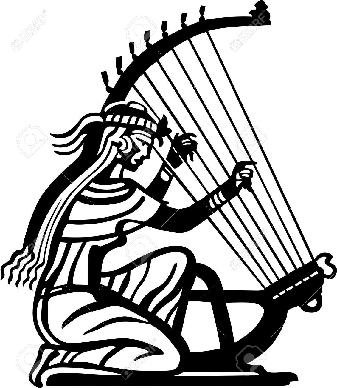 1131x1300 Ancient Woman Playing The Harp Royalty Free Cliparts, Vectors,