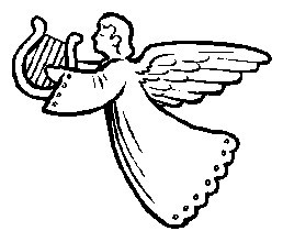 258x220 Printable Christmas Coloring Page Angel With A Harp