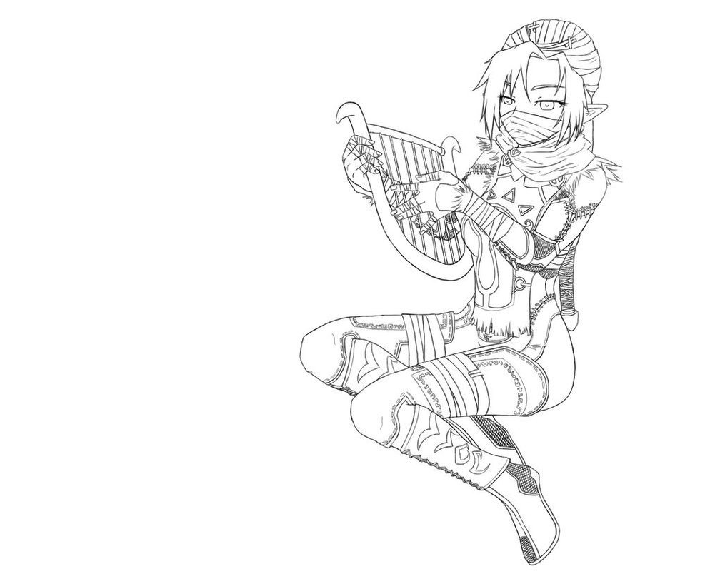 994x804 Request Sheik With Harp By Astatos Luna