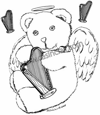 349x404 Teddy Bear And Harp Teddy Bear Art Bears That You Love C. A.