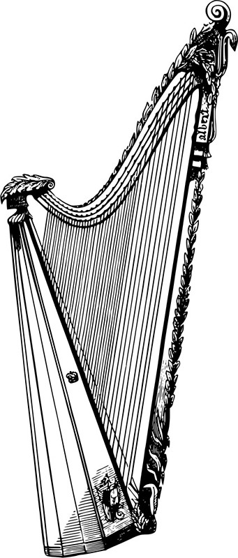 341x800 Harp Metal Prints By Seriouscereal Redbubble