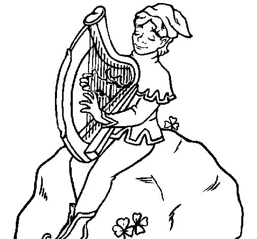 505x470 Harp Coloring Page Genesisar.co
