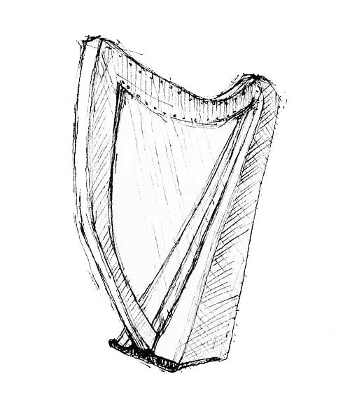 500x584 Celtic Harp Mockingbirds