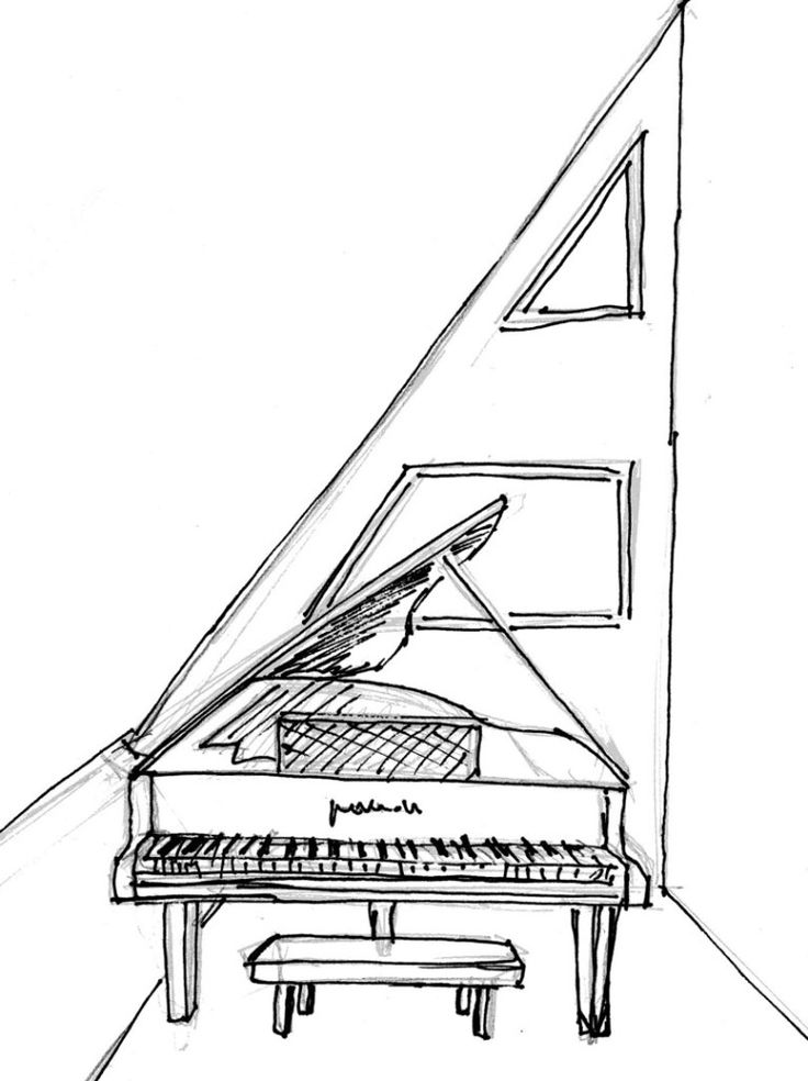 Harpsichord Drawing