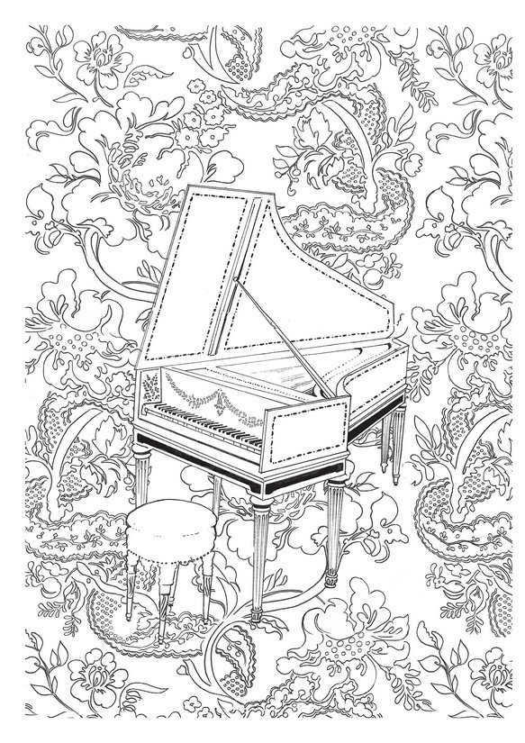 583x825 Icolor Music ~ Harpsichord 583x825 Icolor Music