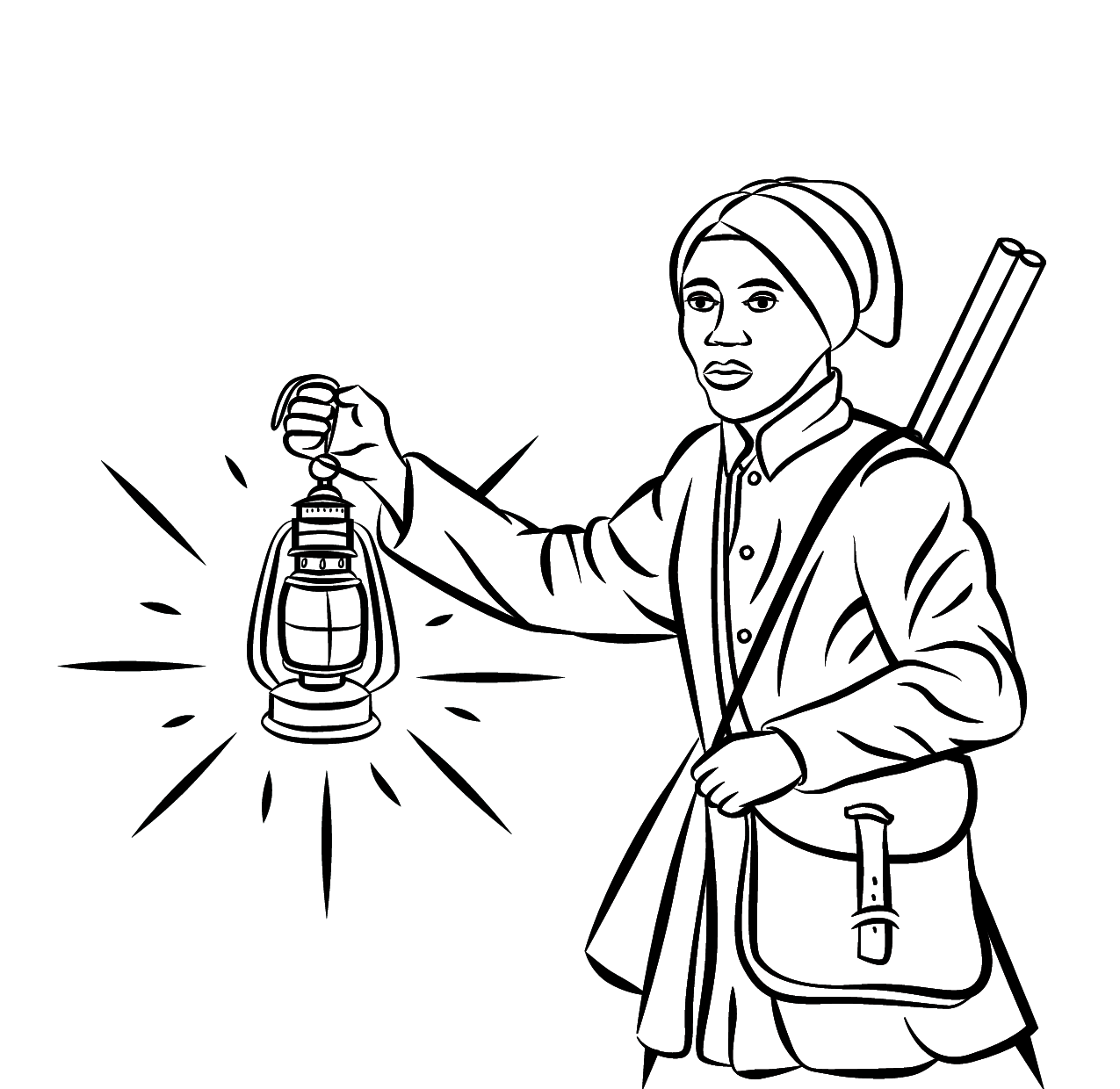 1275x1240 Harriet Tubman Coloring Pages Preschool To Fancy Print Draw Kids