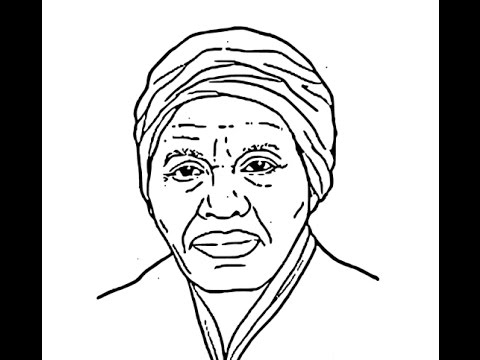 480x360 How To Draw Harriet Tubman Face Sketch Drawing Step By Step
