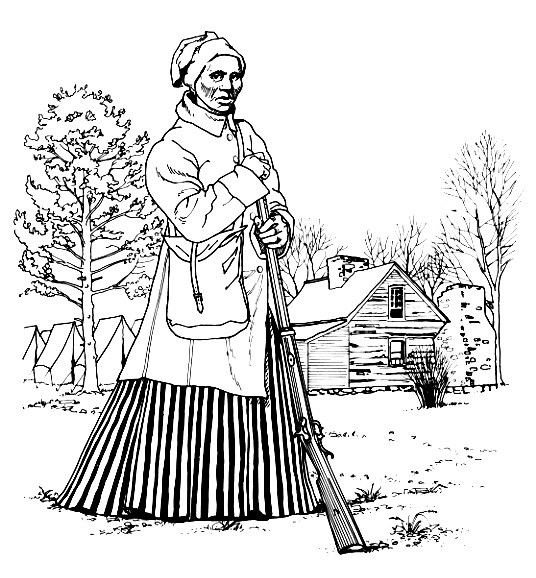 536x578 Harriet Tubman Coloring Pages Coloring Page For Kids