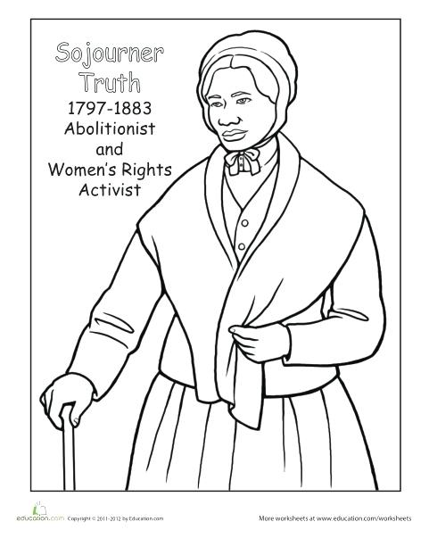 481x622 Coloring Page For Harriet Tubman As Well As Coloring Page 633
