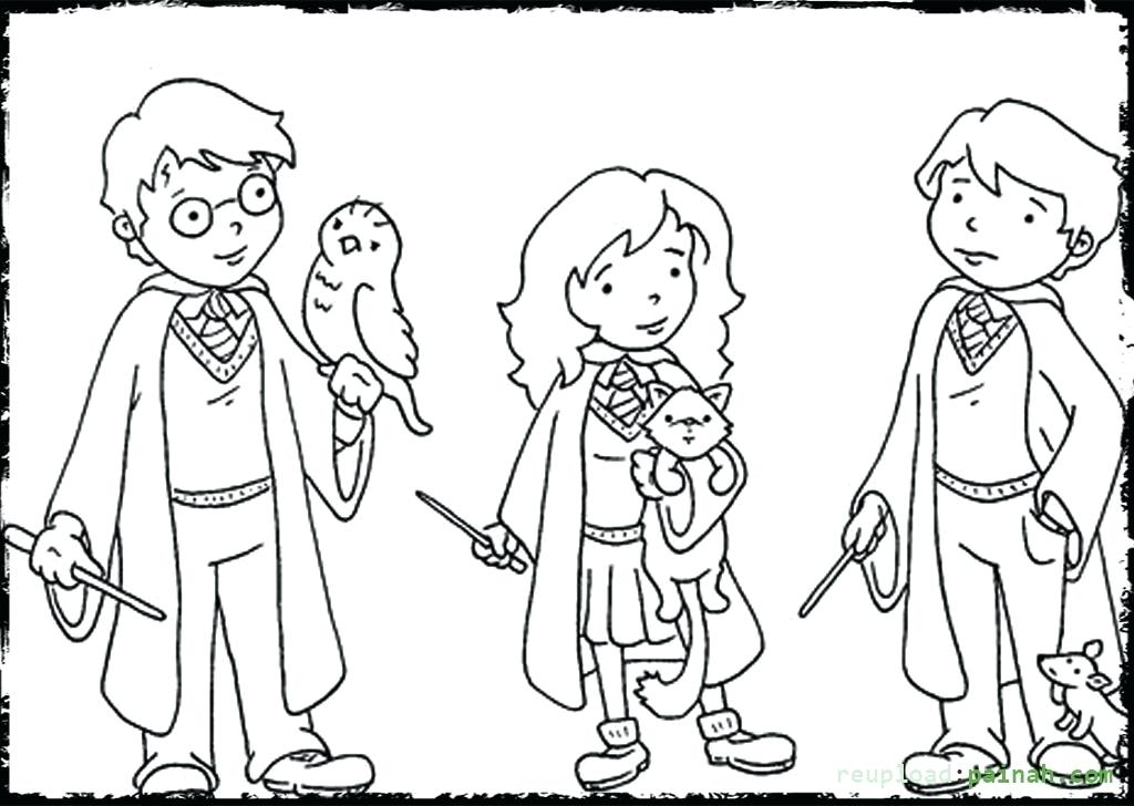 harry potter cartoon drawing at getdrawings com free for personal hagrid coloring pages 1024x728 harry potter