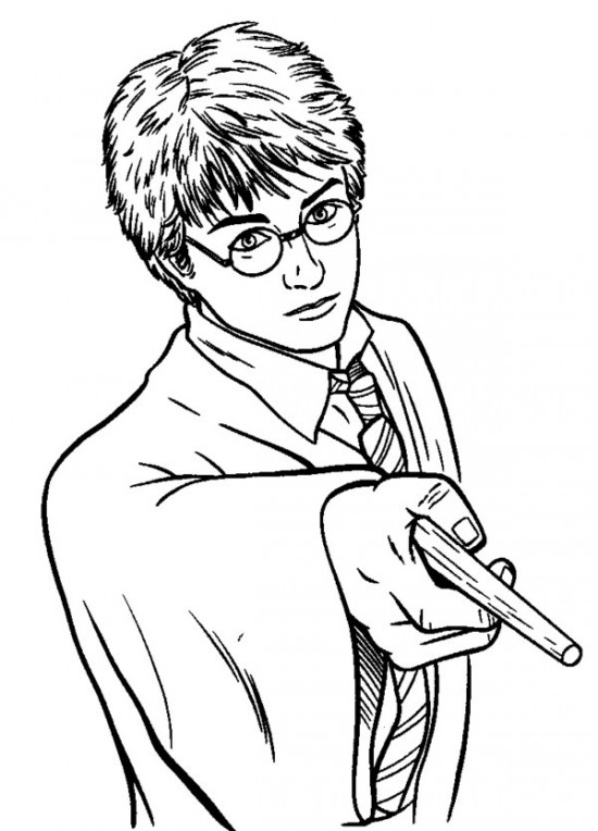 550x764 Harry Potter Coloring Pages Picture 9 550x764 Picture Free