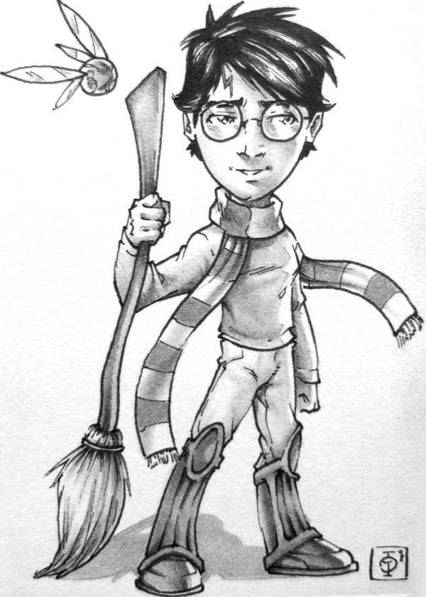 600x840 Harry Potter Characters Drawings