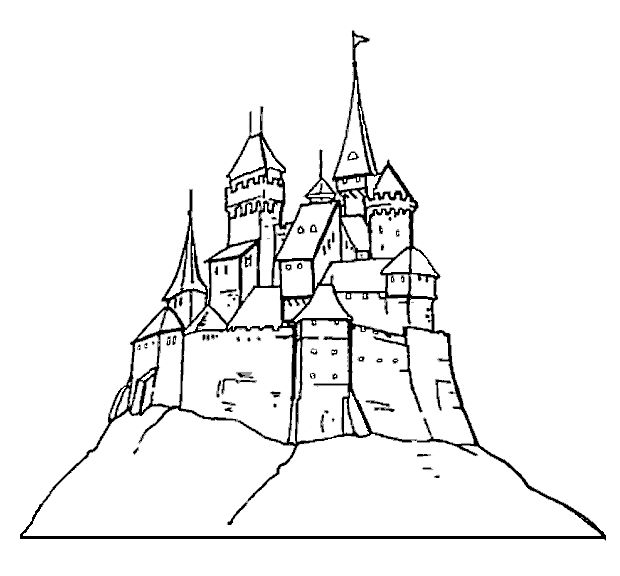 Harry Potter Castle Drawing