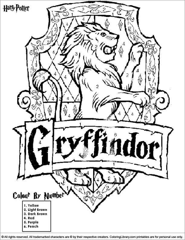 612x792 Harry Potter Coloring Pages