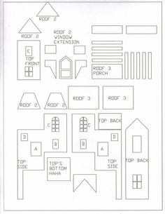 236x305 Gingerbread House Templates