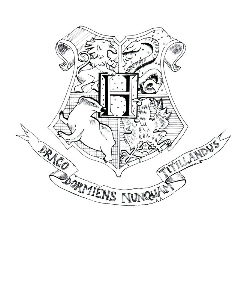 783x1020 Hogwarts Crest Coloring Page Free Coloring