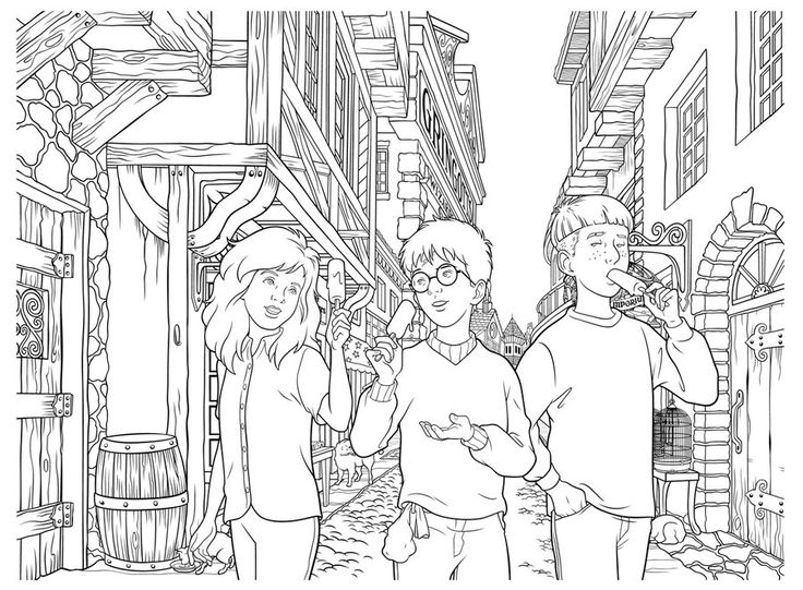 736x541 Coloring Pages To Print Harry Potter Images On Heroes Printable