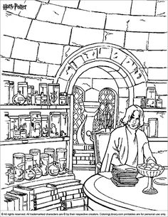 236x305 Harry Potter Coloring Page My Personal Adult Ish Coloring Book