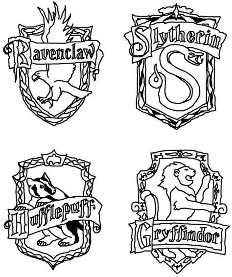 474x566 Hogwarts Crest Stencil
