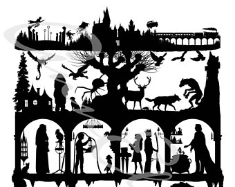 340x270 Shakespeare Silhouette Collage Digital Download