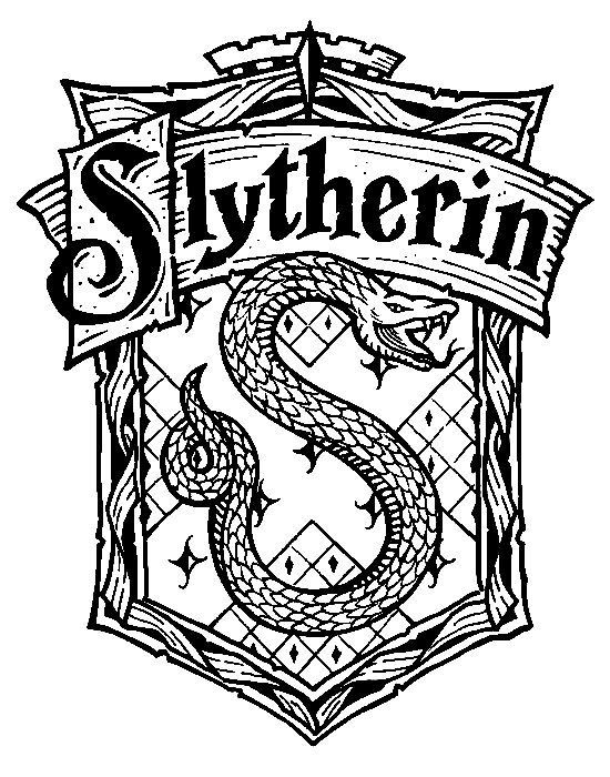 550x700 Harry Potter Hogwarts House Crests Black And White