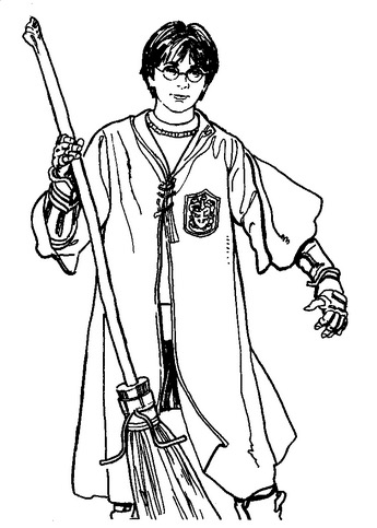 345x483 Harry Potter Broom Coloring Page Amp Coloring Book