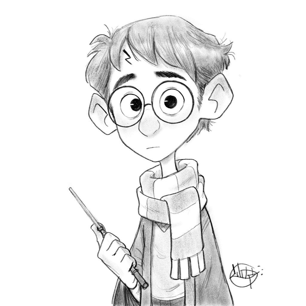 1024x1024 Harry Potter Sketch By Luigil