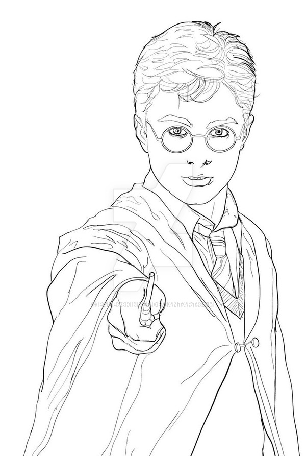 600x893 Harry Potter Drawing By Pauloskinner