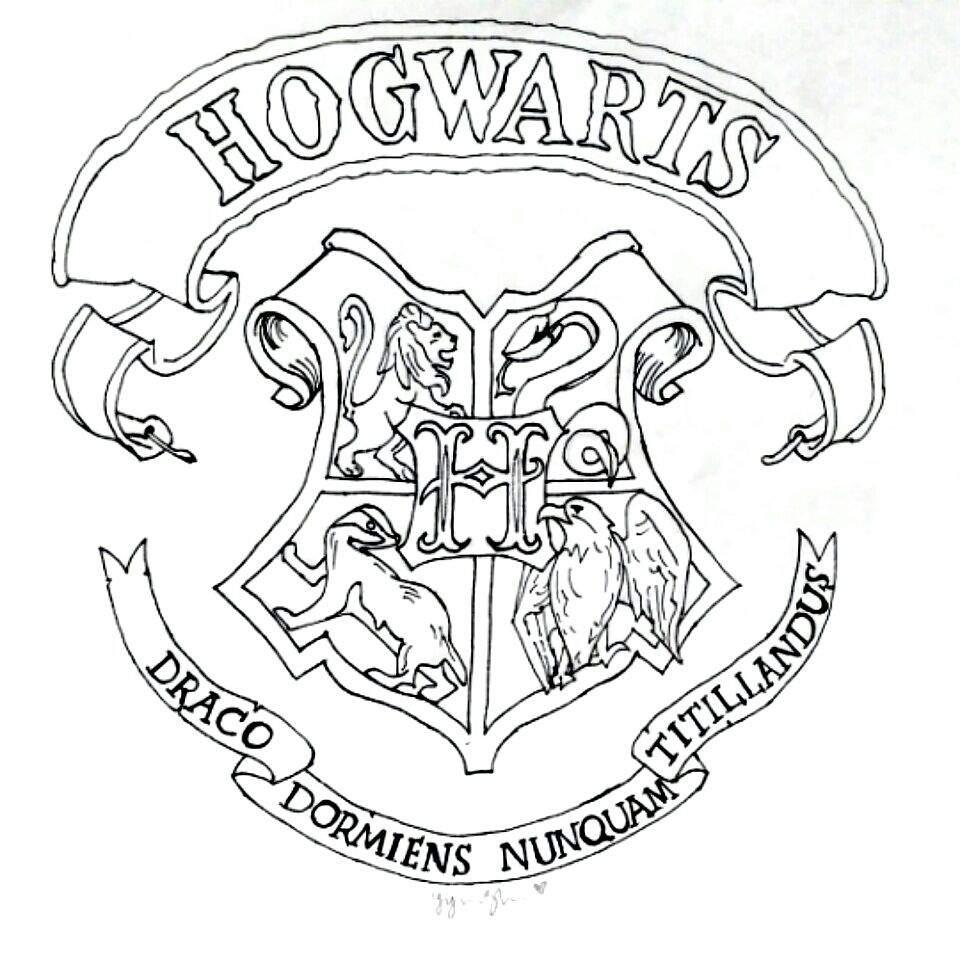 960x960 Hogwarts Crest Drawing Harry Potter Amino