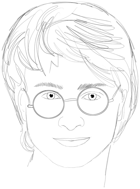 450x608 How To Draw Harry Potter Step By Step Drawing Lesson Daniel