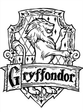 282x381 Gryffondor Coloring Page Harry Potter Drawing Board Weekly