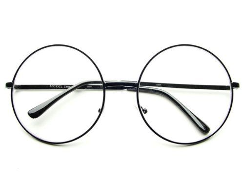 500x375 2 Pairs Gold Harry Potter Eyeglasses Retro Round Metal Frame Clear