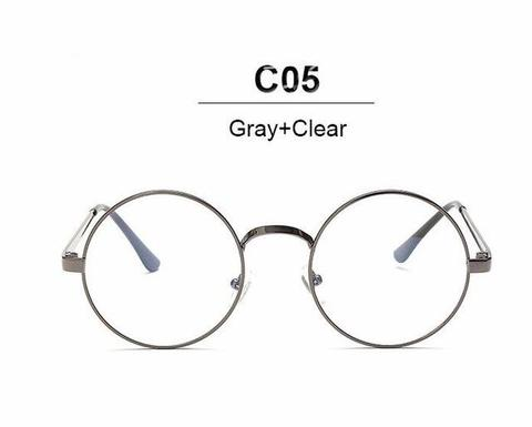 480x385 Nerd Vintage Round Glasses Men Women Metal Frame With Clear Lens