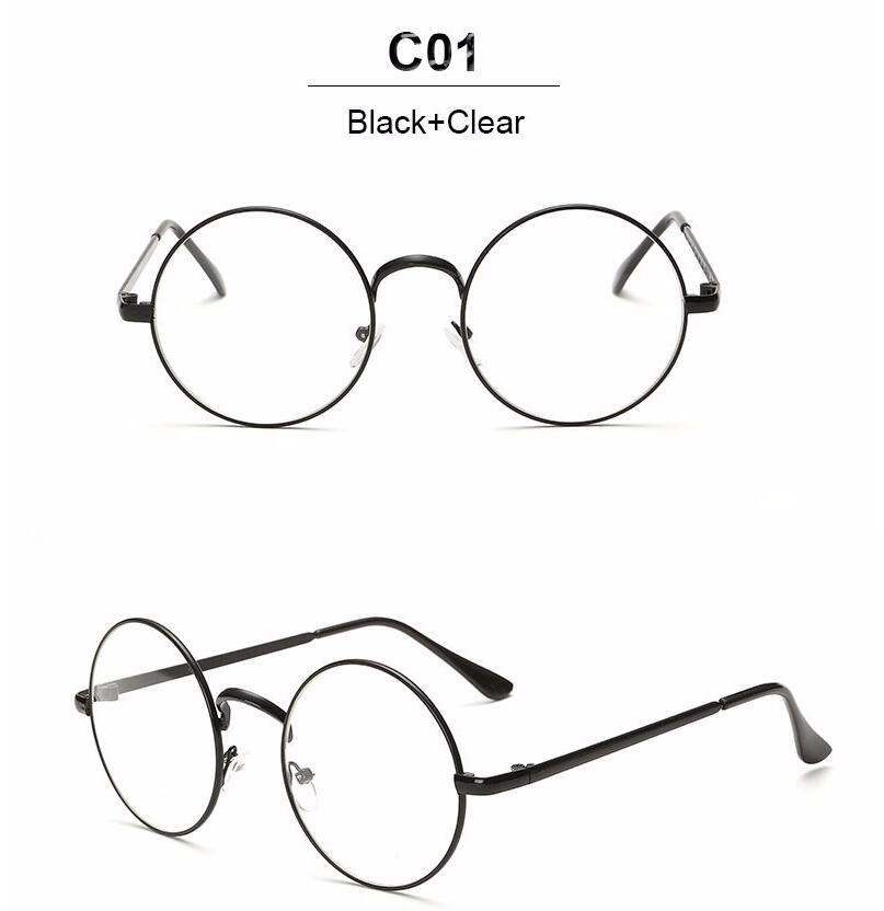 807x832 Online Shop Nerd Vintage Round Glasses Men Women Metal Frame